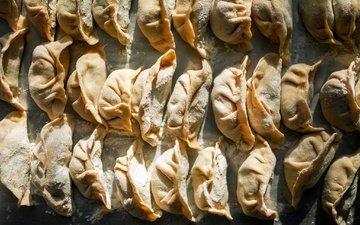 макро, еда, начинка, тесто, мука, пельмени, пельмень, китайские пельмени