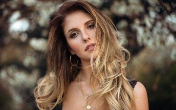 блондинка, портрет, взгляд, модель, макияж, мартин кюн, alyna