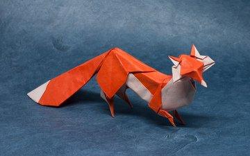 paper, fox, predator, origami