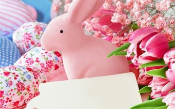 flowers, spring, tulips, easter, eggs, bunny, decor