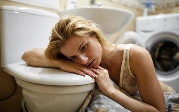 девушка, настроение, унитаз, стиральная машинка, таха филатова