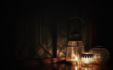 light, lights, candles, style, darkness, glowing