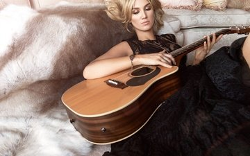 girl, guitar, look, hair, singer, delta goodrem