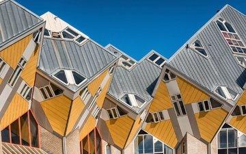 город, архитектура, нидерланды, голландия, роттердам