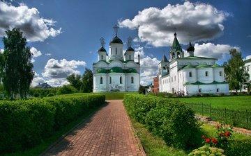 temple, the city, russia, church, the monastery, beautiful, dome, murom, the spaso-preobrazhensky monastery