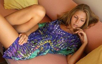 интерьер, блондинка, модель, диван, anjelica, krystal boyd