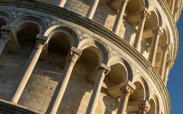 италия, архитектура, пизанская башня, пиза