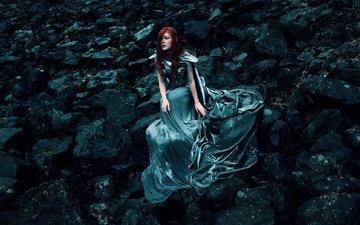 камни, девушка, платье, макияж, доспехи, kindra nikole, jessica dru johnson, desolace