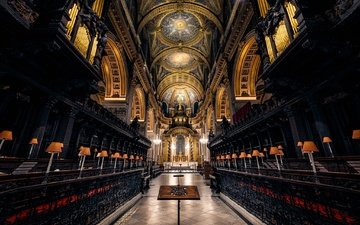 london, england, architecture, religion, the nave, st. paul's cathedral