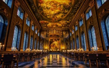 london, hall, england, greenwich, old royal naval college