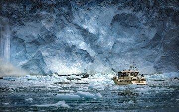 sea, ship, ice