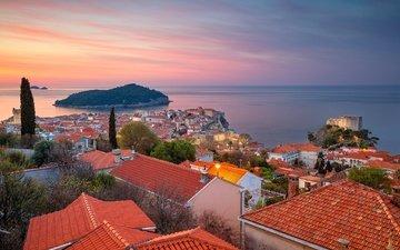 sea, panorama, home, island, building, croatia, dubrovnik, the adriatic sea, adriatic sea