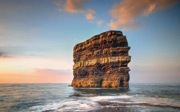 море, скала, ирландия, графство мейо