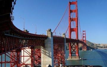 мост, залив, сша, сан-франциско, опора, золотые ворота