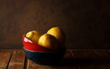 фрукты, натюрморт, лимоны, цитрусы