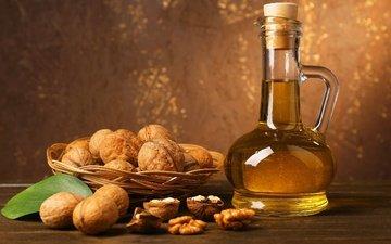 орехи, масло, натюрморт, грецкий орех