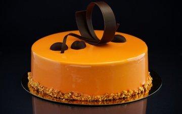орехи, шоколад, сладкое, украшение, торт, десерт, крем