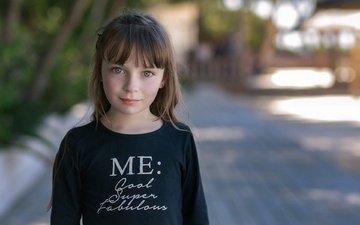 портрет, дети, девочка, волосы, лицо, веснушки, hors-champ, manureva