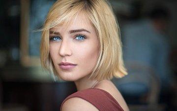 девушка, портрет, взгляд, волосы, лицо, губки, голубоглазая, lods franck