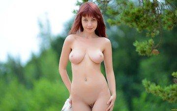 nature, naked girl