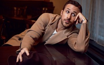 actor, watch, male, hat, photoshoot, ryan gosling