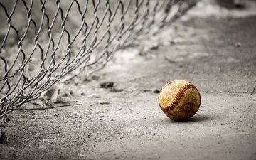 mesh, asphalt, the ball, baseball
