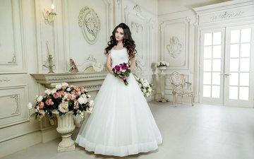 стиль, букет, макияж, прическа, свадьба, праздник, невеста, декор