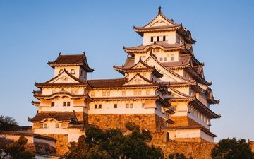 замок, япония, химэдзи