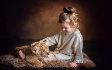 children, girl, hair, face, child, lion, annie, monya, lily ulyanov