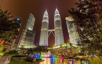 башни, малайзия, куала-лумпур