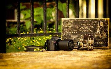 фотоаппарат, камера, объектив, никон