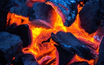flame, macro, fire, coal, the fire