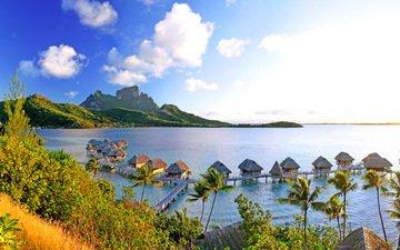 море, отдых, остров, бунгало, тропики