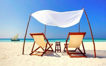 море, пляж, лодка, отдых, остров, тропики, мальдивы