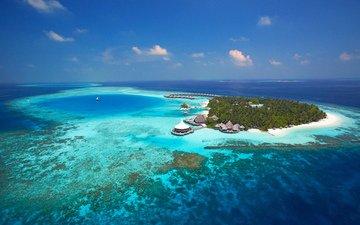 море, пляж, отдых, остров, тропики, мальдивы