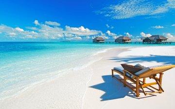 море, пляж, отдых, остров, мальдивы