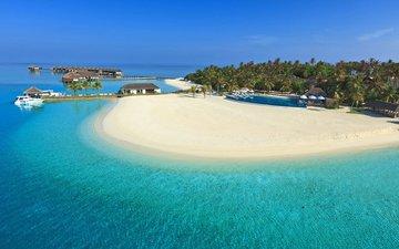 море, пляж, пальмы, отдых, остров, тропики, мальдивы
