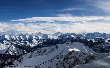 небо, горы, снег, а альпы