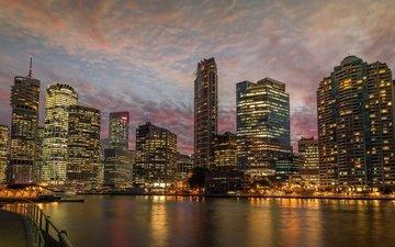 panorama, the city, skyscrapers, australia, brisbane