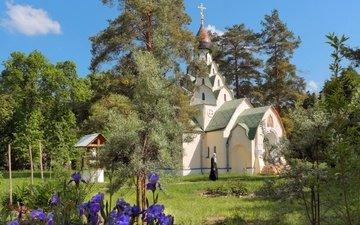 nature, temple, russia, skete, nun, serafimo-znamensky skete, viktor klimkin