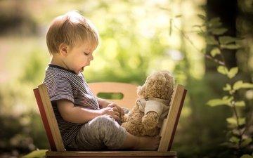nature, children, bear, toy, child, boy, baby, iwona podlasinska