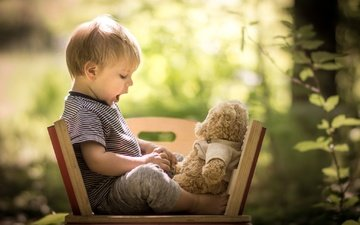 природа, дети, мишка, игрушка, ребенок, мальчик, малыш, iwona podlasinska