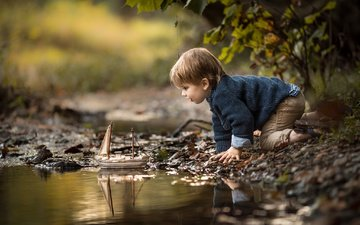 stream, children, hair, face, child, boy, baby, boat, adrian c. murray