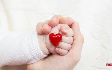 рука, сердце, любовь, ребенок, руки