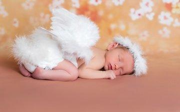 сон, крылья, ангел, ребенок, малыш, младенец