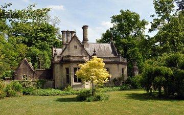 трава, деревья, великобритания, сад, дом, лужайка, north rauceby, северный райсби, линкольншир