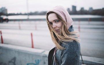 девушка, взгляд, волосы, лицо, ветер, локоны, губки, юля, юлия каракулова