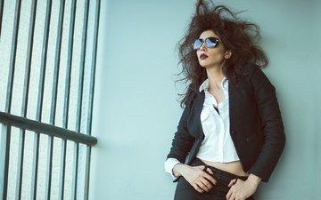 девушка, поза, очки, модель, волосы, лицо, актриса, фигура, о, комаль