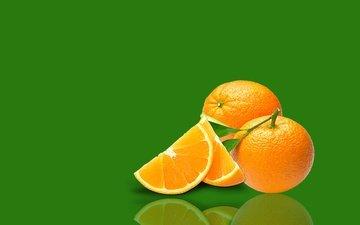 отражение, фон, фрукты, апельсины, цитрусы