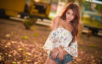 girl, look, hair, asian